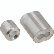 National Hardware N830-352 Ferrules And Stops Aluminum 1/8 Inch 2 Pack
