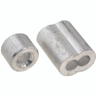 National Hardware N830-353 Ferrules And Stops Aluminum 5/32 Inch 2 Pack