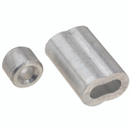 National Hardware N830-354 Ferrules And Stops Aluminum 3/16 Inch 2 Pack