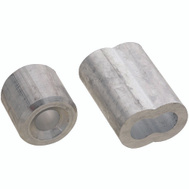 National Hardware N830-355 Ferrules And Stops Aluminum 1/4 Inch 2 Pack