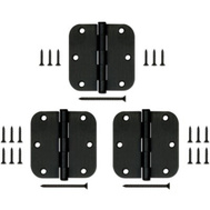 National Hardware S841-506 Gatehouse Door Hinge 3-1/2 Inch 5/8 Radius Oil Rubbed Bronze Pack Of 3
