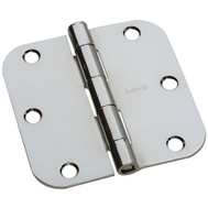 National Hardware G841-548 Gatehouse Door Hinge 3-1/2 Inch 5/8 Radius Polished Chrome