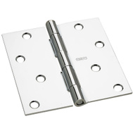 National Hardware G841-549 Gatehouse Door Hinge 4 Inch Square Corner Polished Chrome