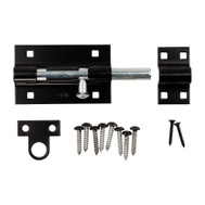 National Hardware N152-121 Extra Heavy Padlockable Barrel Bolt 5 Inch Black