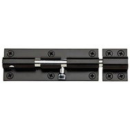 National Hardware N152-133 Extra Heavy Padlockable Barrel Bolt 8 Inch Black