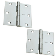 National Hardware S081-050 Stanley Door Hinges 3 Inch Square Corner Zinc Plated 2 Pack