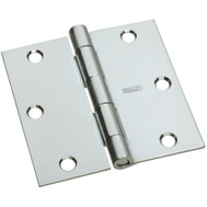 National Hardware S082-050A N830-194X2 Stanley 3-1/2 Inch Square Corner Door Hinges Zinc Plated Steel 1 Pack