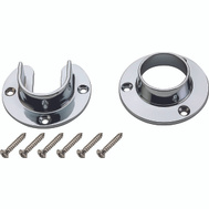 National Hardware S822-080 Heavy Duty Closet Flange Set Chrome