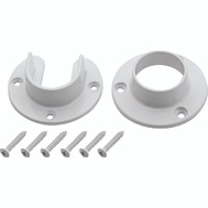 National Hardware S822-083 Heavy Duty Closet Flange Set For 1-5/16 Inch Metal Poles Die Cast White
