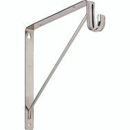National Hardware S822-091 Bracket Shelf & Rod Chrome