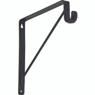 National Hardware S822-092 Bracket Shelf & Rod Oil Rubbed Bronze