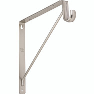 National Hardware S822-093 S820-209 Bracket Shelf & Rod Satin Nickel