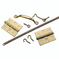 National Hardware N100-022 S748-410 Screen And Storm Door Set Bright Brass