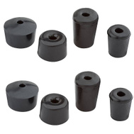 National Hardware S763-762 N344-961 Stanley Choke Resistant Door Stop Replacement Tips 2 Each Of 4 Styles Black