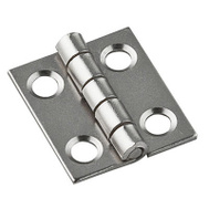 National Hardware N211-012 Narrow Craft And Hobby Hinges 3/4 By 5/8 Satin Nickel On Steel 4 Pack