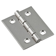 National Hardware N211-014 Broad Craft And Hobby Hinges 1-1/2 By 1-1/4 Inch Satin Nickel On Steel 2 Pack