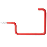 National Hardware N271-013 Large Vinyl Coated Screw-In Storage Hook Red Bulk