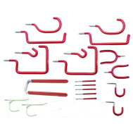 National Hardware N112-034 20 Piece Home Hook Assortment Steel With Red Vinyl Coating