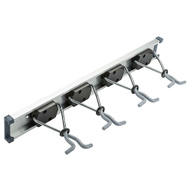 National Hardware N112-082 Sliding Grip Clamp Organizer 18 Inch Gray