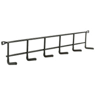 National Hardware N112-084 Household Hanger Hooks 16 Inch Storage Rack Black