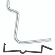 National Hardware N180-003 1-1/2 Inch Angled Peg Hooks With Locks 6 Pack