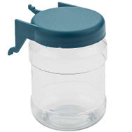 National Hardware N112-064 Peg Hook Small Parts Organizer Clear With Jar Blue Lid 2 Pack