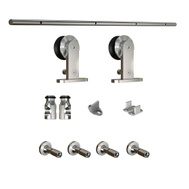 National Hardware N186-962 Decorative Interior Sliding Door Hardware Set Stainless Steel