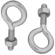 National Hardware N422-473 Eye Bolts 1/4 By 2 Inch Stainless Steel 2 Pack