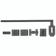 National Hardware N109-002 Heavy Duty Lockable Cane Bolt 5/8 By 18 Inch Black