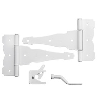 National Hardware N109-003 Decorative Gate 8 Inch T Hinges And Latch Kit White