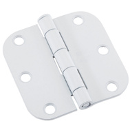National Hardware N109-182 Door Hinge 3 Inch 5/8 Radius White