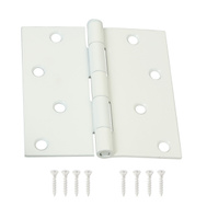 National Hardware N109-186 N190-108 S836-312 Door Hinge 4 Inch Square Corner White