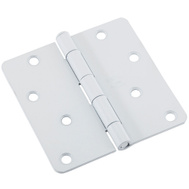 National Hardware N109-187 Door Hinge 4 Inch 1/4 Radius White