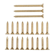 National Hardware N109-189 Door Hinge Reinforcement Screws #9 By 1 & 2-1/4 Inch Bright Brass