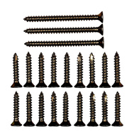 National Hardware N109-174 Door Hinge Reinforcement Screws #9 By 1 & 2-1/4 Inch Antique Brass