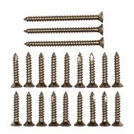 National Hardware N109-179 Door Hinge Reinforcement Screws #9 By 1 & 2-1/4 Inch Brass Tone
