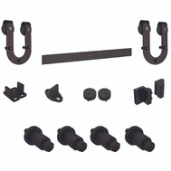 National Hardware N186-964 Sliding Door Hardware Kit Horseshoe Style Oil Rubbed Bronze