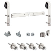 National Hardware N186-966 Sliding Door Hardware Kit Satin Nickel