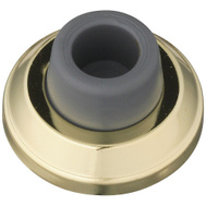National Hardware N236-003 2-1/2 Inch Concave Heavy Duty Commercial Wall Door Stop Bright Brass