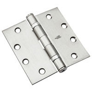 National Hardware N236-010 4-1/2 Inch Ball Bearing Door Hinge Non Removable Pin Satin Chrome