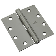National Hardware N236-014 Commercial Door Hinge 4-1/2 Inch Square Corner Prime Coat