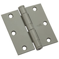 National Hardware N236-017 Commercial Door Hinge 3-1/2 Inch Square Corner Prime Coat