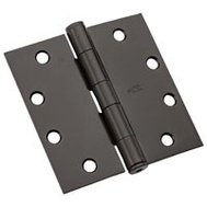 National Hardware N236-018 4 Inch Architectural Square Door Hinge Oil Rubbed Bronze