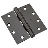 National Hardware N236-019 4-1/2 Inch Ball Bearing Door Hinge Non Removable Pin Oil Rubbed Bronze
