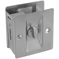 National Hardware N236-031 N326-272 Privacy Knotched Pocket Door Latch Solid Brass Satin Nickel