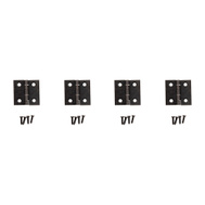 National Hardware S841-571 N211-019 Gatehouse Non-Removable Fixed Pin Narrow Hinges 1 Inch By 1 Inch Oil Rubbed Bronze Pack Of 4