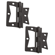 National Hardware S841-593 N830-436 Gatehouse Bi-Fold Folding Steel Non Mortise Door Hinges 3 Inch Oil Rubbed Bronze 2 Pack