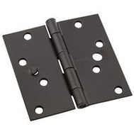 National Hardware N830-402 Security Stud 4 Inch Square Door Hinges Oil Rubbed Bronze 3 Pack