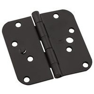 National Hardware N830-409 Security Stud 4 Inch 5/8 Radius Door Hinges Oil Rubbed Bronze 3 Pack