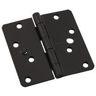 National Hardware N830-416 Security Stud 4 Inch 1/4 Radius Door Hinges Oil Rubbed Bronze 3 Pack